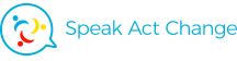 Speak Act Change Sticky Logo